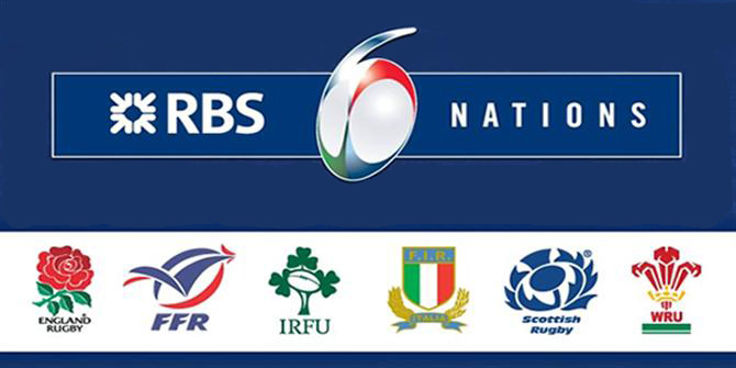 6 Nations rugby sports bar in Dublin showing it
