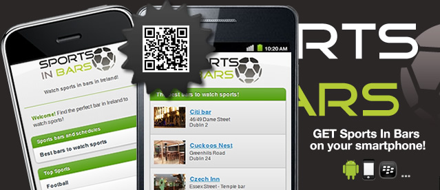 Sports In Bars mobile app for Iphone Android Blackberry Windows