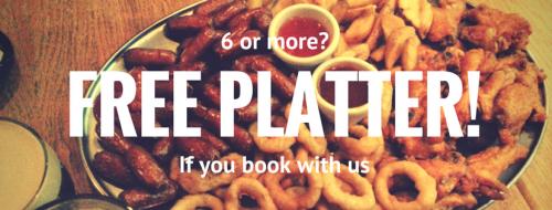 Food platter from Trinity Bar