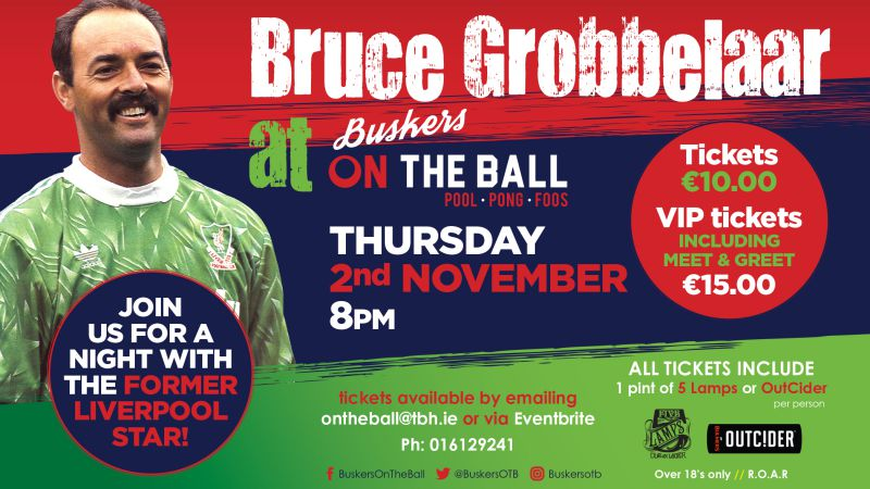 Bruce Grobbelaar Liverpool Buskers on the Ball